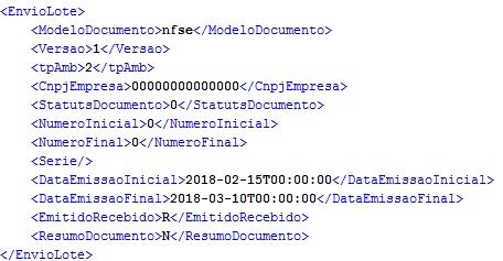 Exemplo consulta documentos